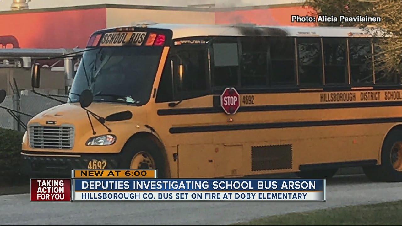 Hillsborough deputies investigate arson after school bus ...