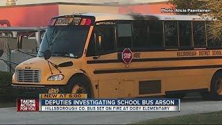Hillsborough deputies investigate arson after school bus set on fire