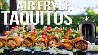 Air Fried Chicken Taquitos (Rolled Tacos) | SAM THE COOKING GUY 4K