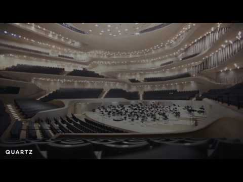 """An algorithm designed this concert hall's interior, creating the """"ideal acoustic experience."""""""