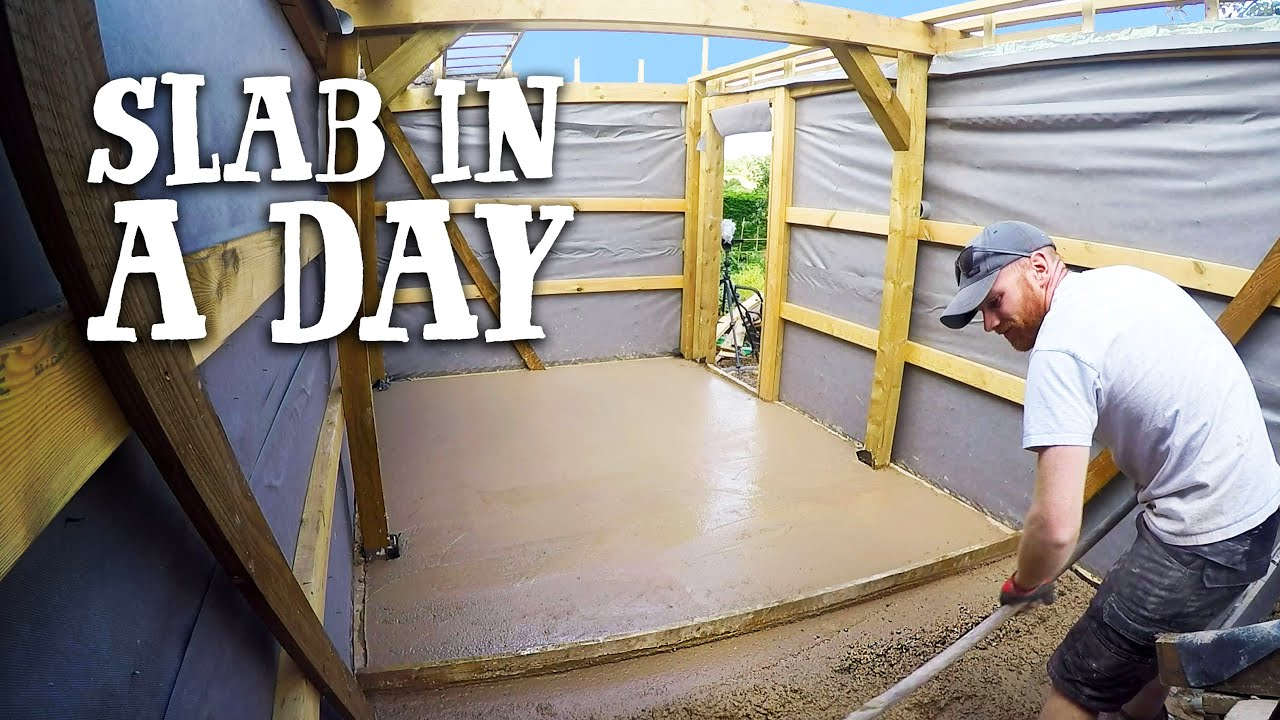 CONCRETE SLAB SHED FLOOR | Last minute change of plan!