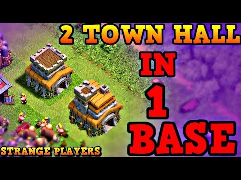 2 TOWN HALL IN 1 BASE - STRANGE PLAYER IS THAT A HACK OR A BUG?  CLASH OF CLANS