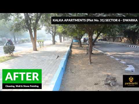 Cleaning, Stone Painting, Wall Painting - Kalka Apartments, Sector 6, Dwarka - Paramarthi