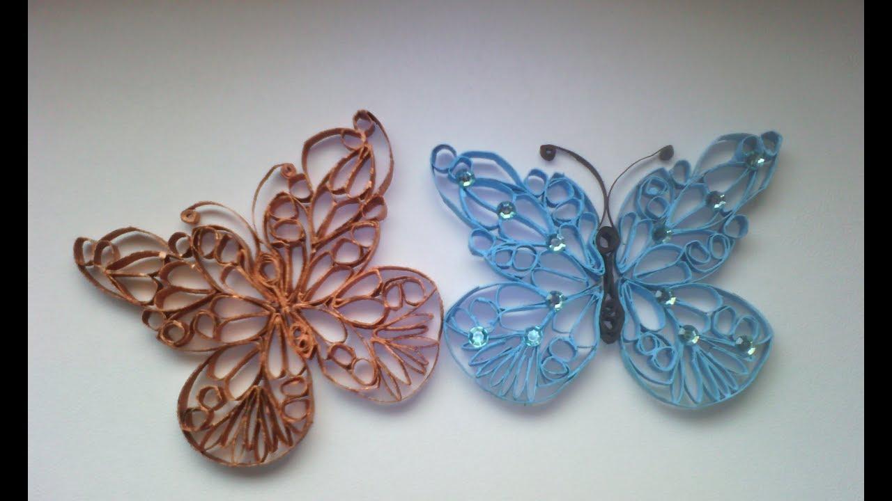 Mariposas con rollos de papel higinico manualidades para ninos - Manualidades para ninos con papel ...