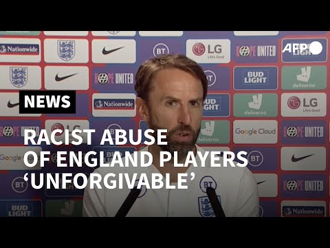 Euro 2020: Racist abuse of England players is 'unforgivable', says Southgate   AFP