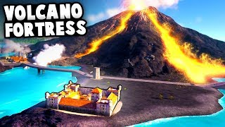 Military FORTRESS Stops VOLCANO From Destroying ISLAND CITY!  (Tropico 6 Beta Gameplay)