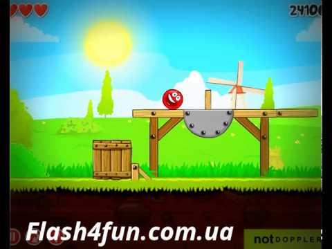 Прохождение игры красный шар на Flash4fun.com.ua