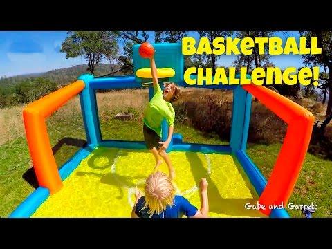 Basketball Challenge - Kids Inflatable Basketball Court!