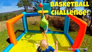 Basketball Challenge - Kids Inflatable Basketball Court!