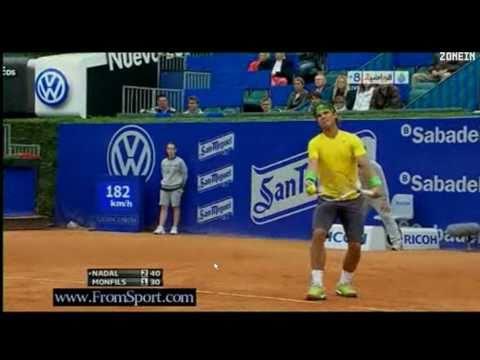 Rafa Nadal def Gael Monfils - Barcelona 2011 Part 1/5