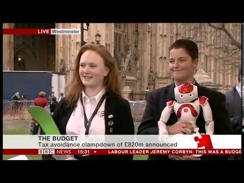 BBC live news Budget 2017 with LDE UTC students