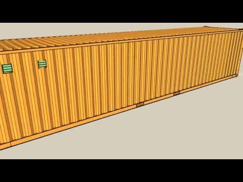 40Ft Container Yellow project jambal roti caffe