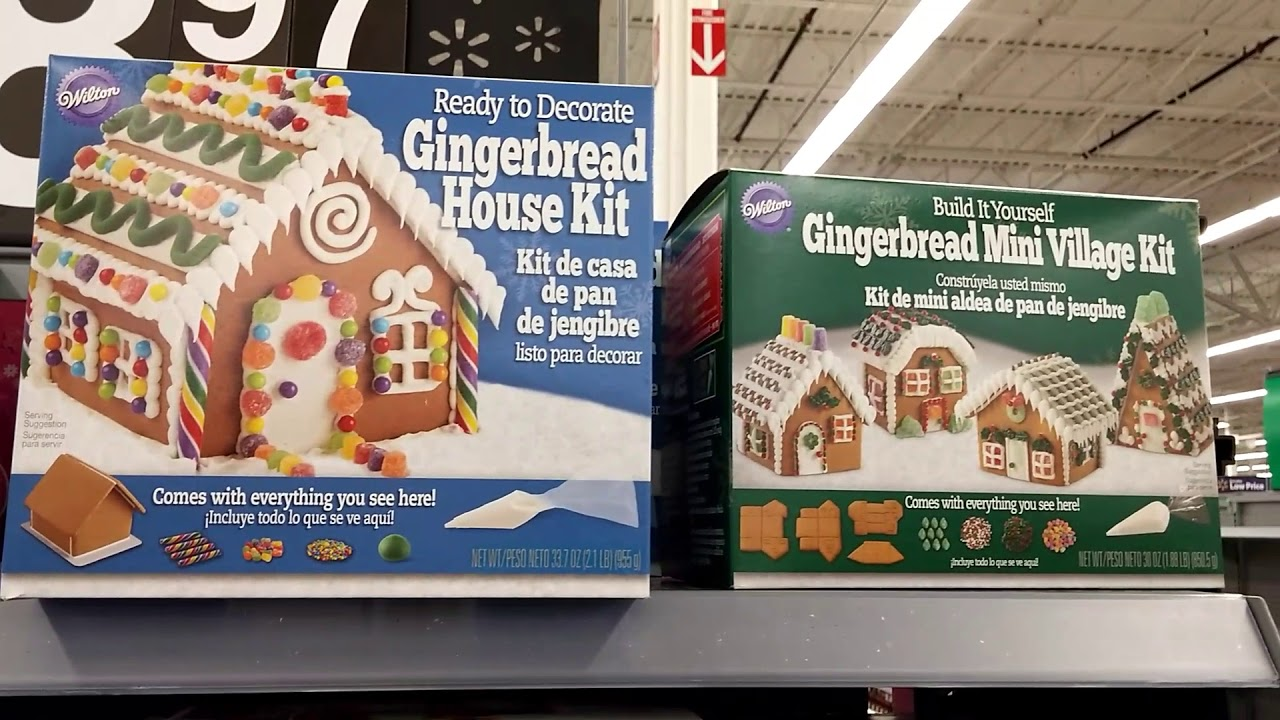 ginger bread houses at walmart 2017