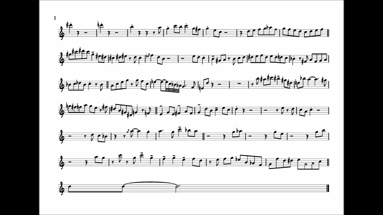 Kenny Garrett 'There Will Never Be Another You' Alto Sax Solo Transcription