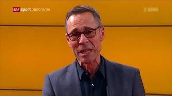 Hier verabschiedet sich Matthias Hüppi im Schweizer Fernsehen