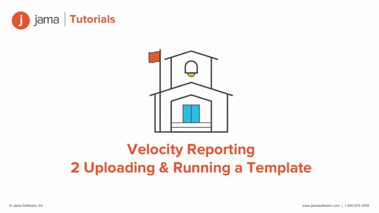 velocity reporting uploading running a template in jama