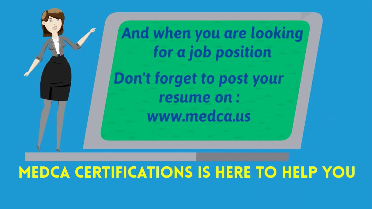 Get Certified With Medca Youtube