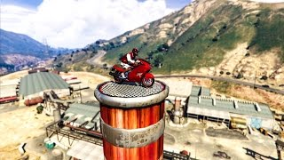 INSANE MOTORBIKE STUNTS! - (GTA 5 Top 10 Stunts)