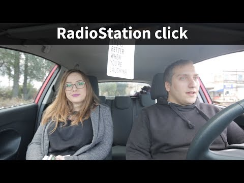 RadioStation click -  can be used to broadcast the music via the FM radio band