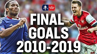 Every <b>FA Cup</b> Final Goal from 2010-2019 | Sterling, Watson, Lingard ...