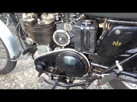 AJS Starting procedure, heavyweight British single motorcycle