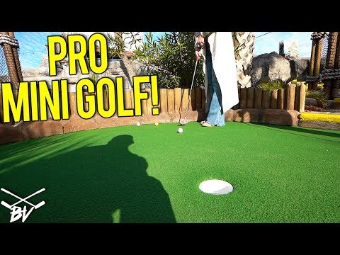 THE BEST MINI GOLF HOLE IN ONE COMBO EVER AT A WORLD CHAMPIONSHIP MINI GOLF COURSE!