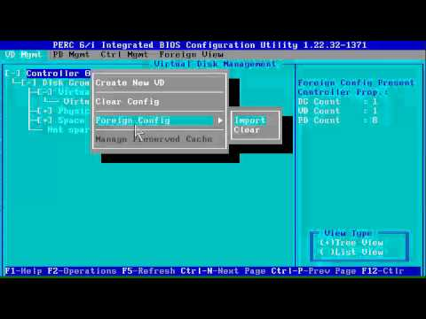 DELL Ctrl-R import foreign PERC 5,6