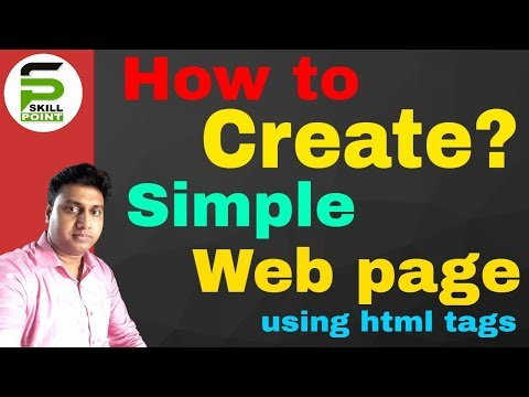 How to Create Simple Web Page  in HTML