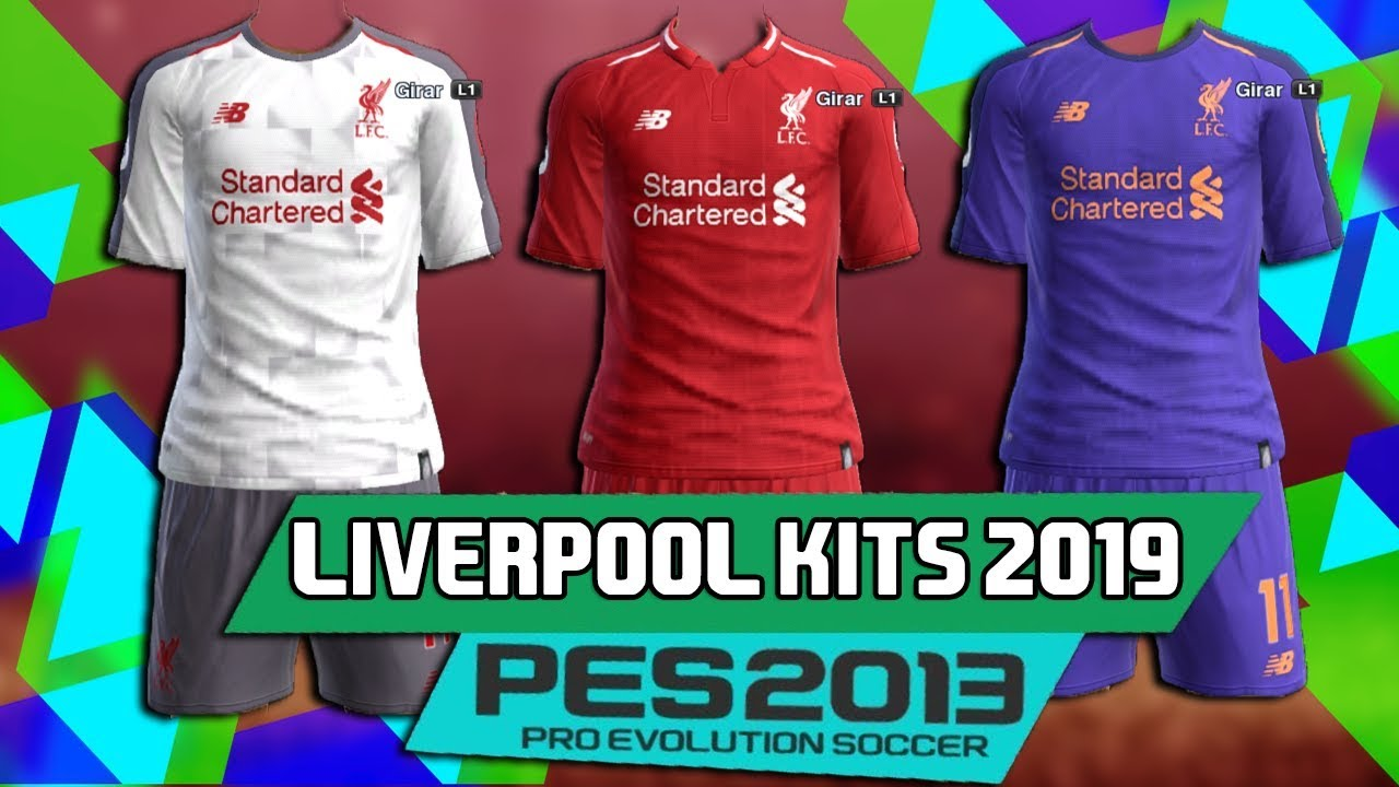 PES 2013 ● New Full GDB Kits Liverpool 2018-2019 HD