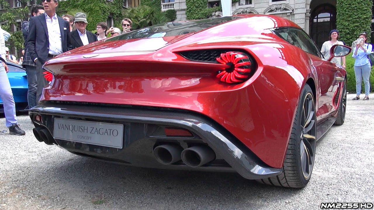 Aston Martin Vanquish Zagato Concept LOUD Sound Hard Revs - New aston martin zagato