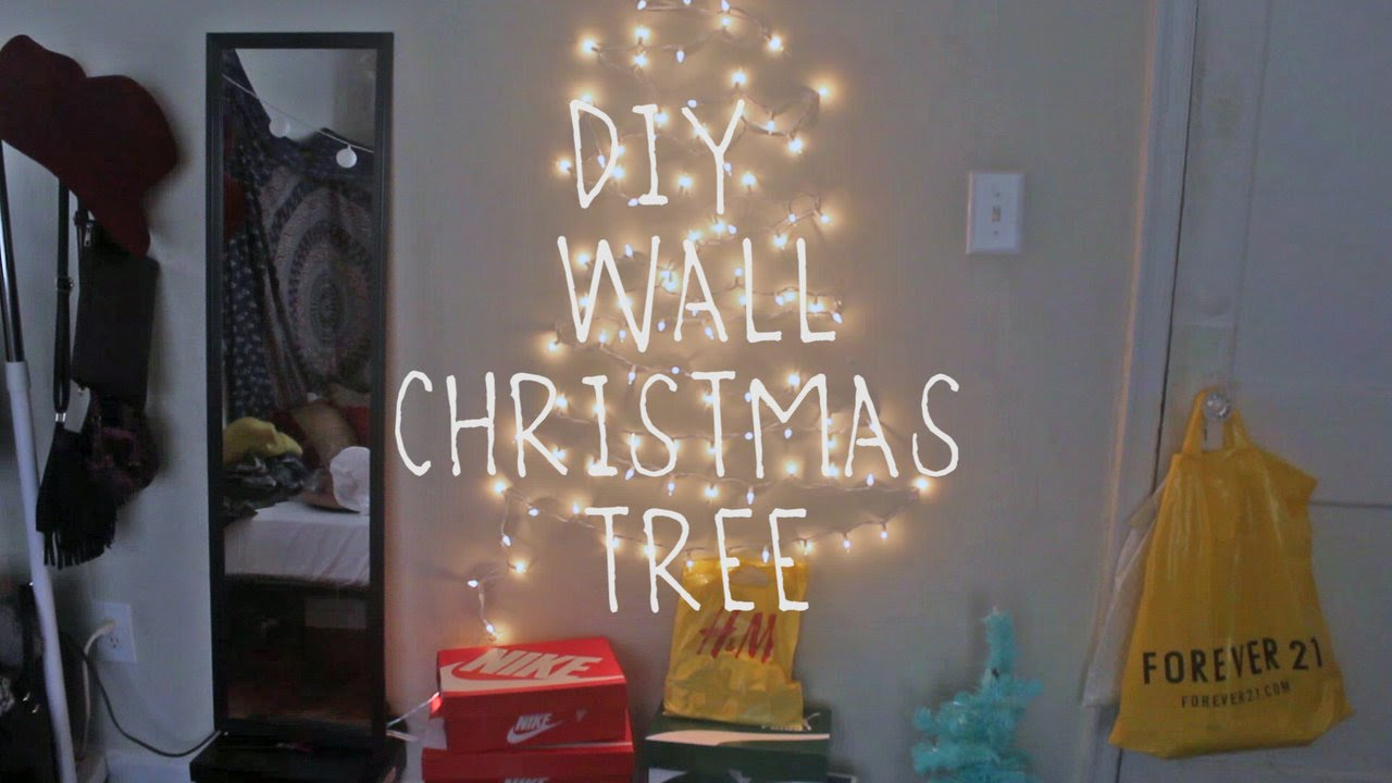 diy wall christmas tree youtube. Black Bedroom Furniture Sets. Home Design Ideas