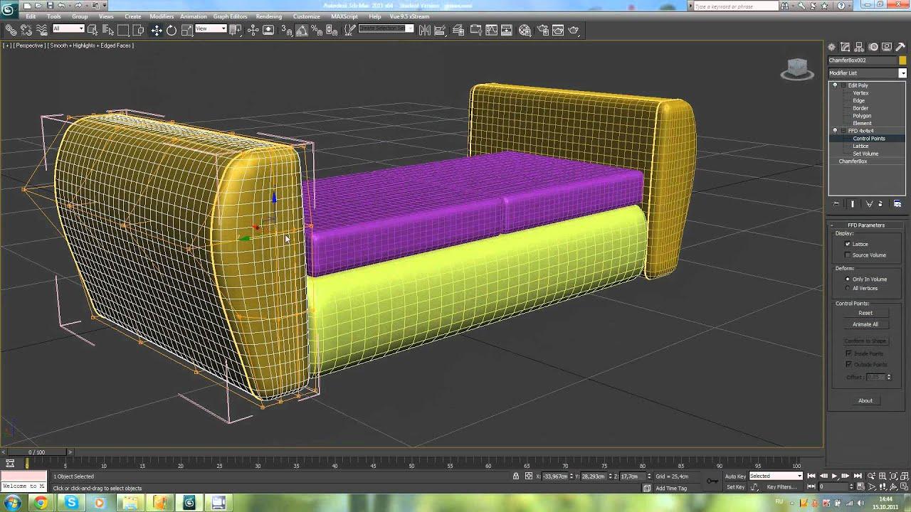Мебели д программу моделирование 3
