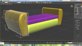 3D max урок мягкая мебель