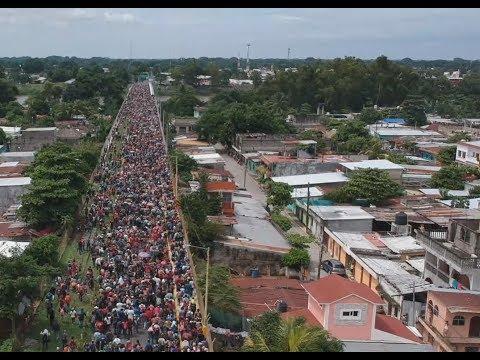 Dramáticas imágenes de los migrantes hondureños