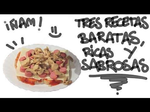 Tres recetas baratas ricas y sabrosas youtube - Comidas rapidas y baratas ...