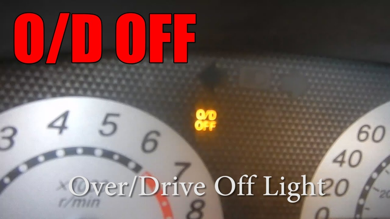 O d off light is on heres what to do