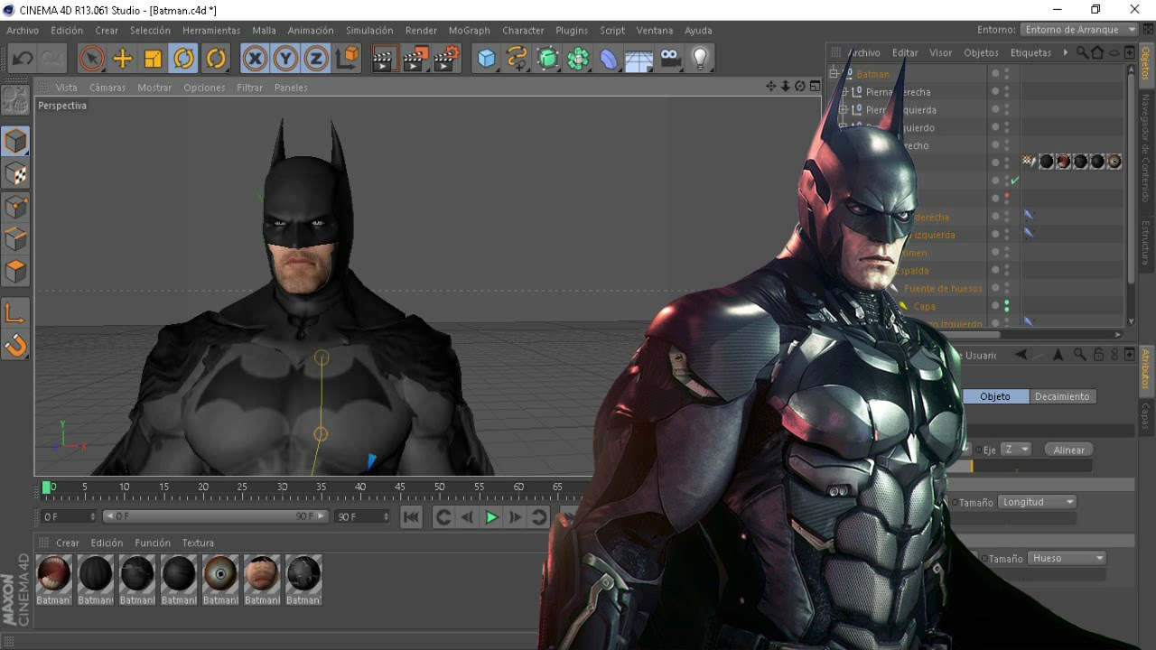 batman para cinema 4d rig como mover el rig youtube. Black Bedroom Furniture Sets. Home Design Ideas