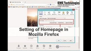 Setting of Homepage in Mozilla Firefox