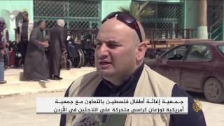 مقاعد متحركة للاجئين في الأردن
