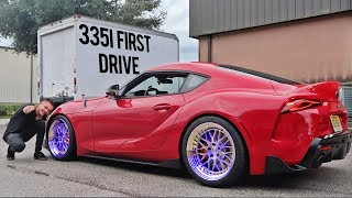 Titanium Exhaust 335i First Drive + Supra's New Wheels!