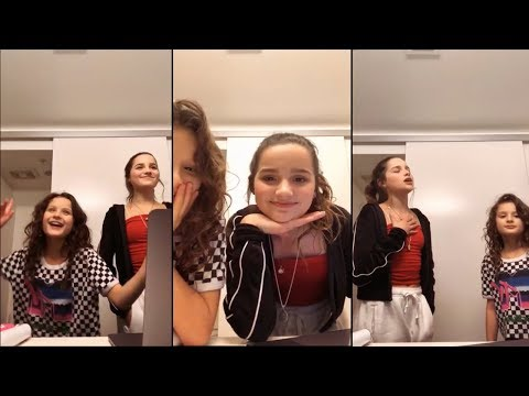 ANNIE LEBLANC AND HAYLEY LEBLANC SINGING ON INSTAGRAM LIVE!