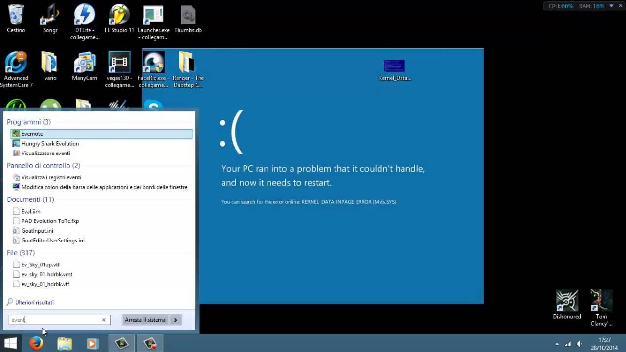 kernel data inpage error windows 8.1