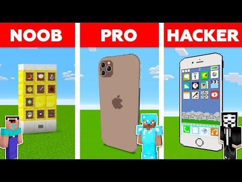 Minecraft NOOB vs PRO vs HACKER: IPHONE BUILD CHALLENGE in Minecraft / Animation