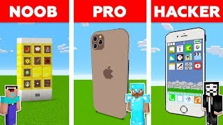 Minecraft NOOB vs PRO vs HACKER: IPHONE BUILD CHALLENGE in Minecraft / Animation