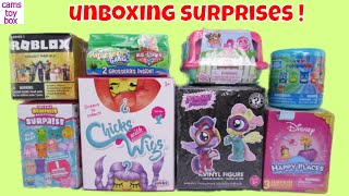 Surprise Toys Unboxing Power Ponies Chicks with Wigs PJ Masks Mashems Roblox Mystery Puppy