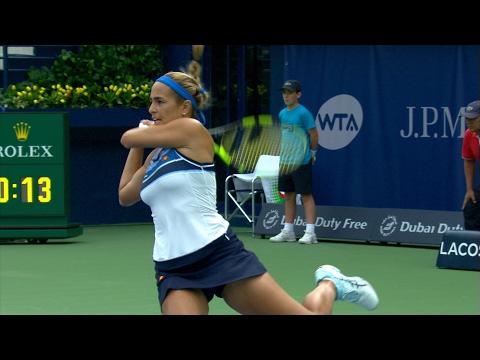Highlights: Shvedova vs. Puig, R1, 2017 Dubai Duty Free Tennis Championships