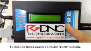 Receber programa no CNC do RGDNC P COMANDO SIEMENS
