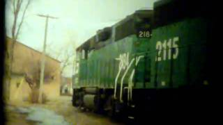 Burlington Northern at Valley City, North Dakota 1990