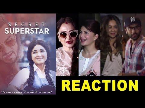 Bollywood Celebs Reactions On Aamir Khan's Secret Superstar Movie