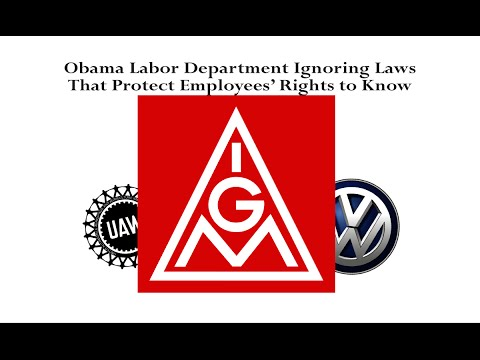 NRTW Urges DOL Sec Enforce LMRDA re: VW, UAW, IG Metall